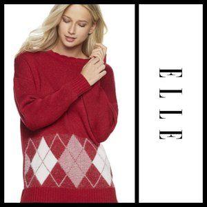 ELLE Crewneck Red Cherries Sweater NWT S